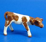 Hagen-renaker Miniature Guernsey Calf