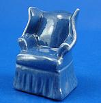 Hagen-renaker Miniature Blue Armchair