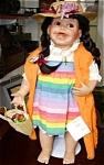 Leila 1999 Cindy Marschner Rolfe Hamilton Ashton Drake Mexican Girl 19 ½ Inch Mexican