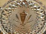 '84 Christmas Holly Lamp Lantern Waterford Annual Crystal Plate 1984