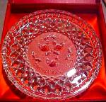 1986 Waterford Crystal 12 Days Of Christmas 3 Three French Hens Original Box 86 Plate