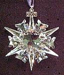 Swarovski Crystal 2002 Annual Snowflake Christmas Ornament Stella Di Natale Weihnacht