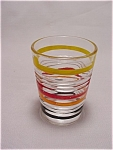 Banded Rings Whiskey Tumbler - Colored Rings