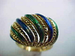 Enamel Gold Ring