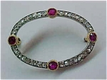 Antique Diamond-ruby Pin
