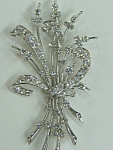Diamond Floral Pin