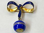 Cobalt Blue Enamel Lapel Watch