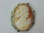 Antique Filigree Cameo Pin