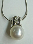 Diamond-south Sea Pearl Necklace
