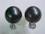 Diamond-south Sea Pearl Earrings