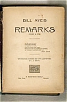 Bill Nye's Remarks 1896 19th Cen Columnist