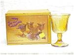 Harvest Goblet Set Iridescent Gold In Box