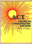 American Conservatory Theatre Program 1977