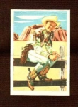 Roy Rogers Pop Out Card #11 Post Cereal