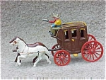 Cast Iron Stage Coach - Driver - Horses
