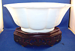 Large Oval Peking Glass Bowl