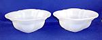 Pair Of White Peking Glass Bowls