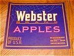 Webster Apple Label