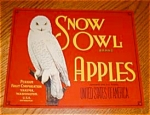 Snow Owl Apple Label (Red)