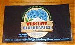 Wildcliffe Blueberries Labels