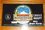 Wildcliffe Blueberry Label