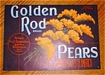 Golden Rod Pear Label