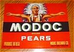 Modoc Pear Label (Red)