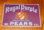 Royal Purple Pear Label