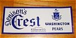Denison's Crest Pear Label