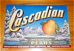 Cascadian Pear Labels