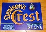 Denison's Crest Pear Labels