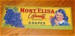 Mont; Elisa Grape Label