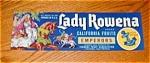 Lady Rowena Grape Label