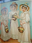 Three Girls With Flower Baskets