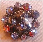 Multi-colored Rhinestones And Leaves