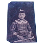 Young Girl Tin Photo