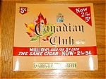 Canadian Club Cigar Label