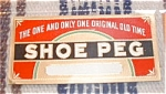 Shoe Peg Cigar Label