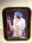 1973 Coca Cola Tray Remake-girl In The Blue Turban