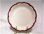 Buffalo China Sm.plate-red/blk Trim
