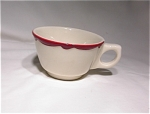 Buffalo China White Cup-red Trim