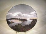 Royal Doulton Plate -canadian View Of Niagara Falls