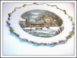 Currier & Ives Farmers Home In Winter Plate