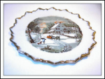 Currier & Ives The Homestead In Winter Plate