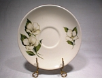 Hlc Rhythm Saucer White Flowers 1940s/50s