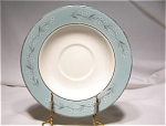 Homer Laughlin Turquoise Melody Saucer #cv63