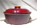 Hull Mirror Brown 2-qt Covered Casserole