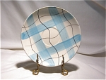 Japan Blue & Ivory Plaid Saucer