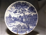 English Village Blue & White Saucer Japan