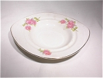 Knowles Taylor And Knowles Oval Bowl/pink Roses
